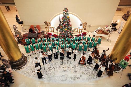 オークラアクトシティホテル浜松 クリスマスロビーコンサートに出演しました。